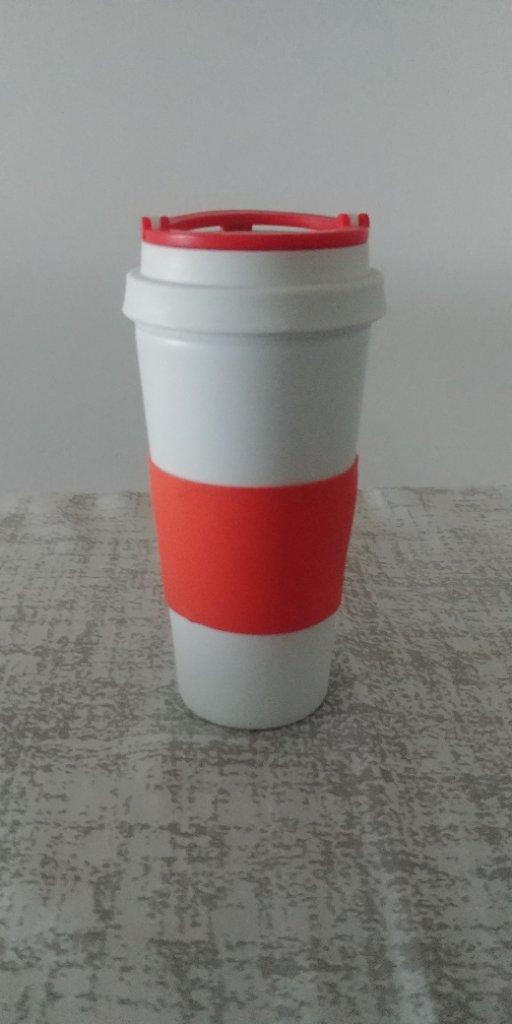 כוס תרמית עם חבק סיליקון