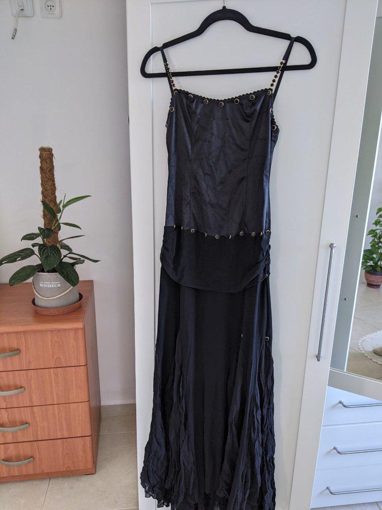 שמלה שחורה לאירוע xs-s