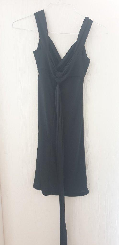 שמלה שחורה שרוול קצר xs